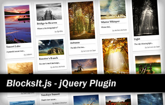 jQuery BlocksIt.js