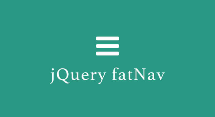 jQuery fatNav